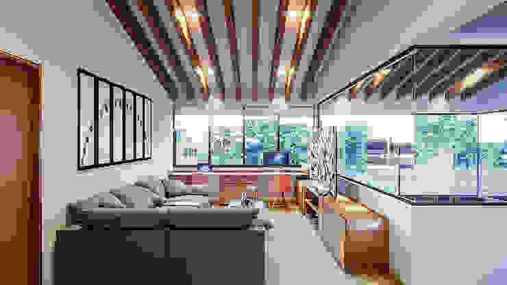 Proyecto Club Aleman Salas multimedia rústicas de Urbyarch Arquitectura / Diseño Rústico