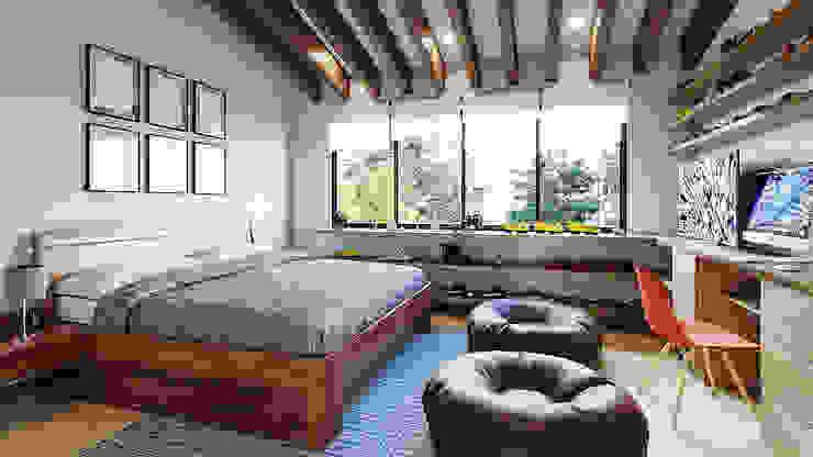 Proyecto Club Aleman Dormitorios rústicos de Urbyarch Arquitectura / Diseño Rústico