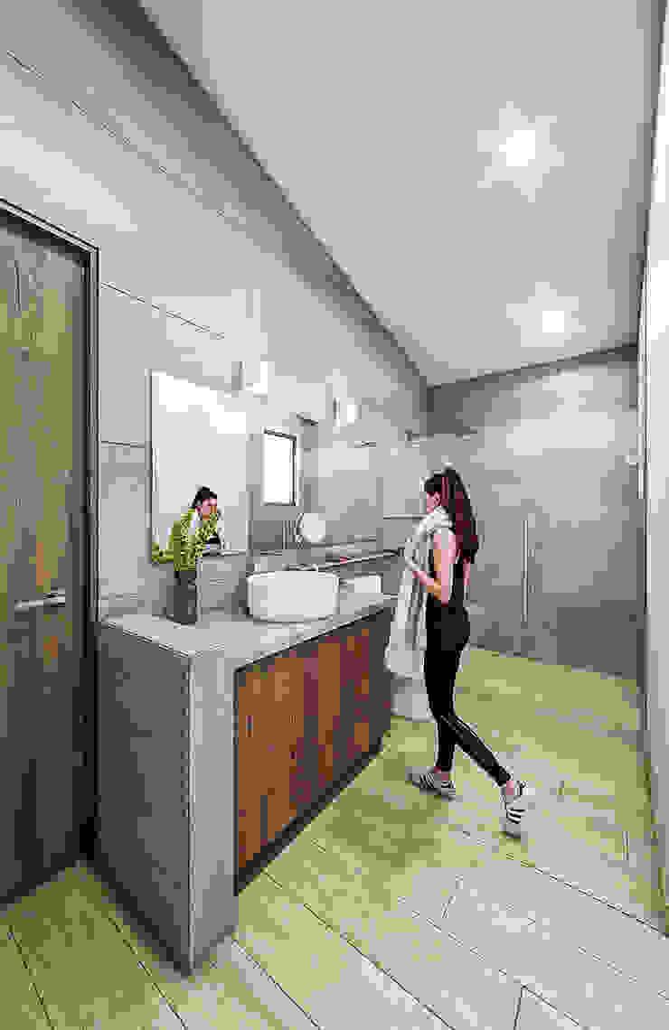 Proyecto Club Aleman Baños rústicos de Urbyarch Arquitectura / Diseño Rústico