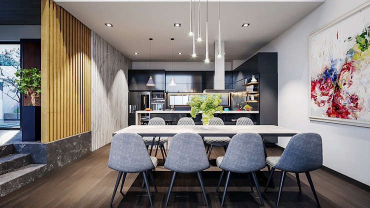 Urbyarch Arquitectura / Diseño Industrial style dining room
