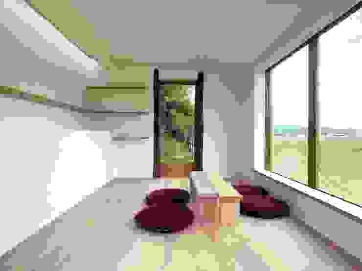 Tea room in Iga ミニマルデザインの 書斎 の Mimasis Design/ミメイシス デザイン ミニマル