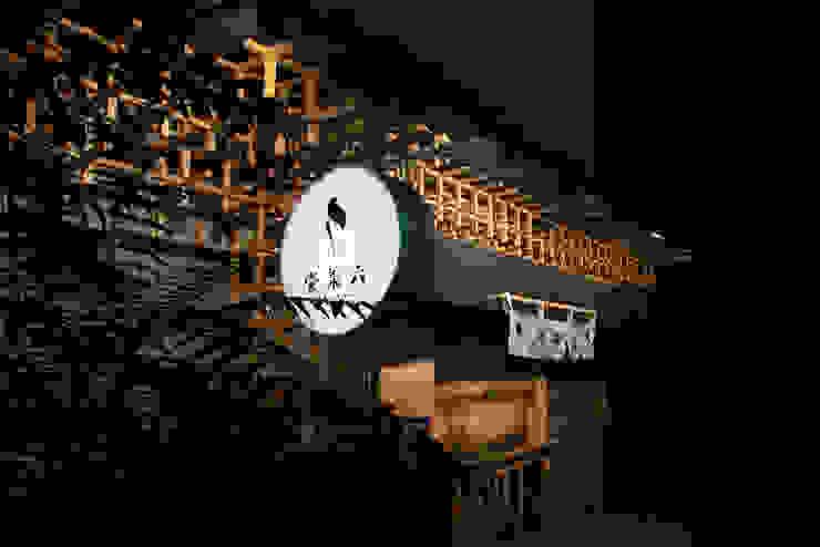壹柒六の氷 Asian style dining room by 漢玥室內設計 Asian Wood Wood effect