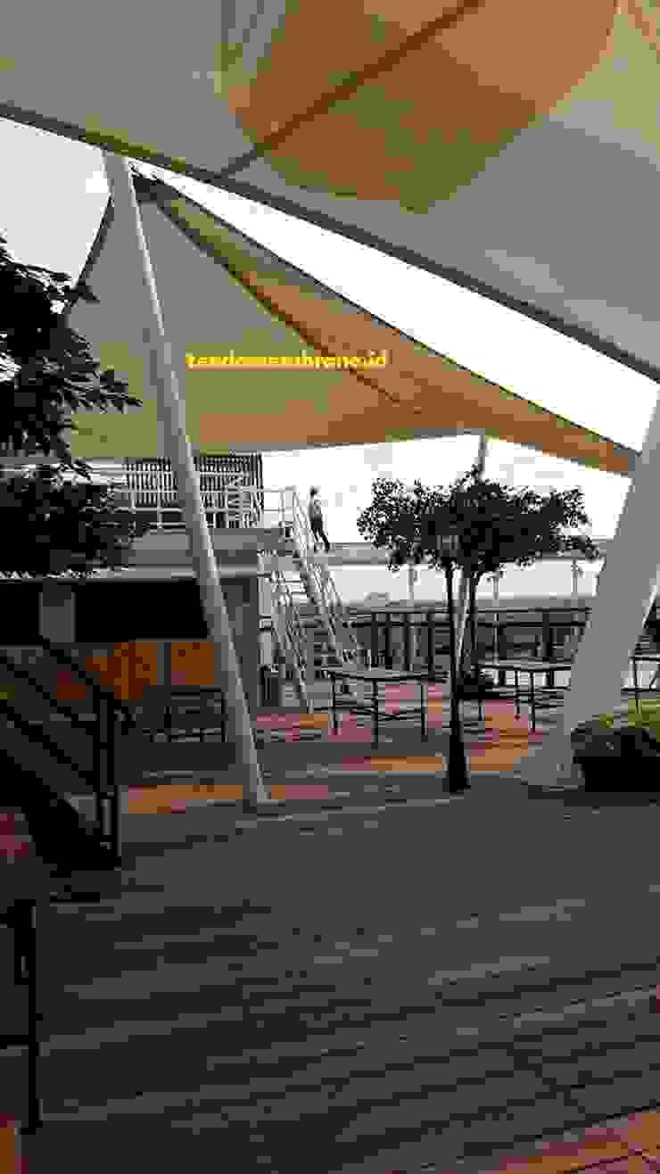 tenda shading area Bianglala, AEON Mall, Cakung Fortuna Jaya Kreasi Pusat Perbelanjaan Tropis Plastik Beige