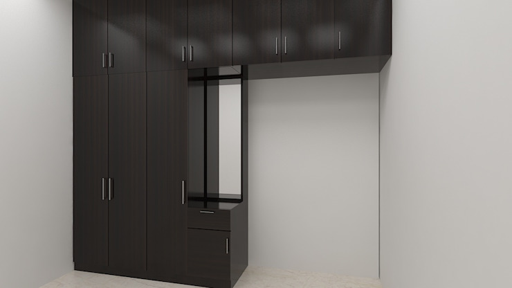 Wardrobe:  Small bedroom by 360 Degree Interior,Modern