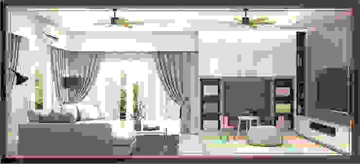 บ้านสร้างเอง 2 ชั้น โซนพระราม 3: ทันสมัย  โดย BAANSOOK Design & Living Co., Ltd., โมเดิร์น แผ่น MDF