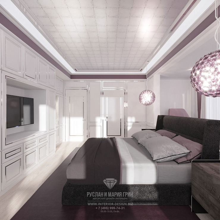 Eclectic style bedroom by Студия дизайна интерьера Руслана и Марии Грин Eclectic
