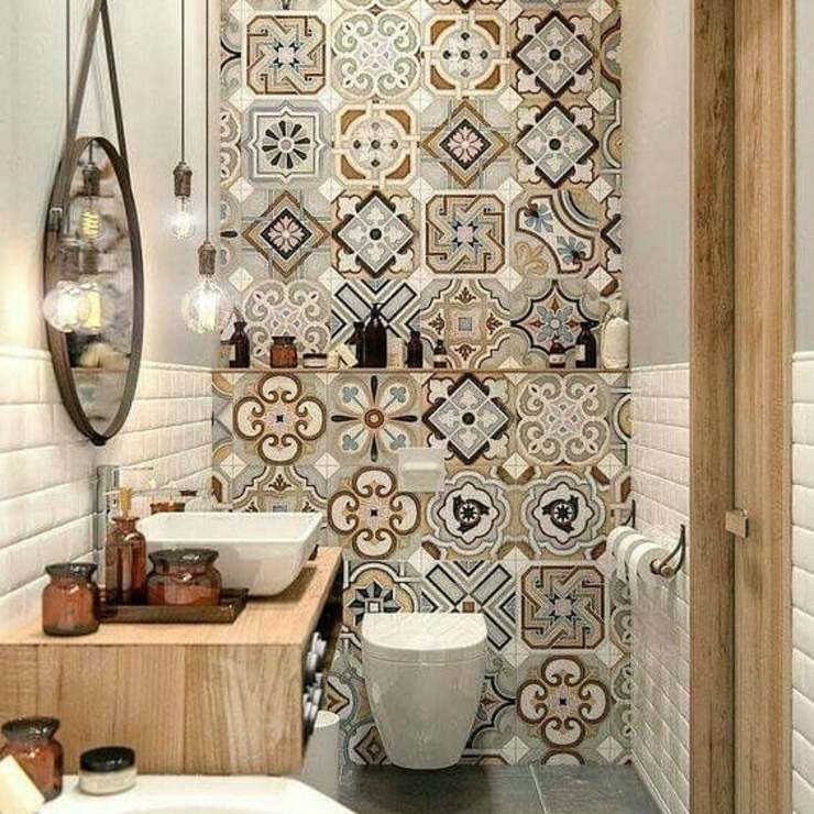 Eclectic style bathrooms by Tendencia Design by Bibiana Sabogal Eclectic