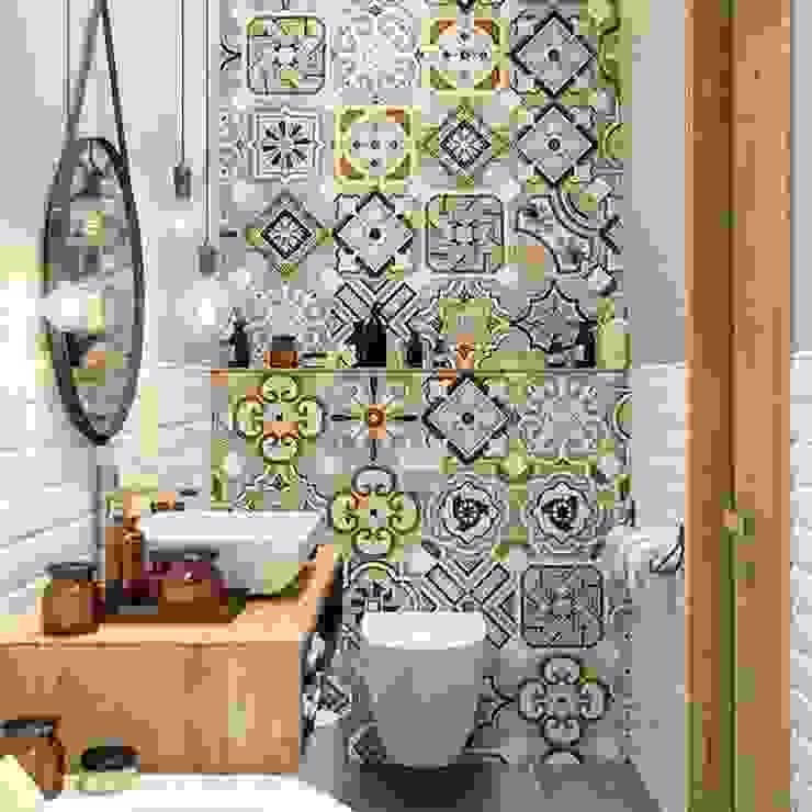 Baño retro chic Baños de estilo ecléctico de Tendencia Design by Bibiana Sabogal Ecléctico