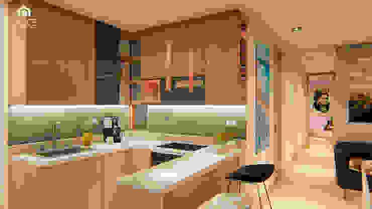 INTERIOR 25G / VIÑA SAN REMO Cocinas modernas de CRECE ARQUITECTURA SAS Moderno