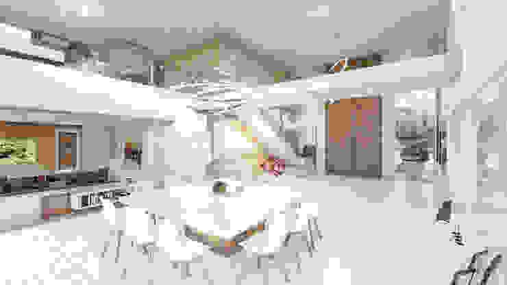 Salle à manger moderne par D'ODORICO ARQUITECTURA Moderne