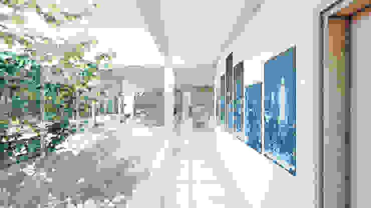 Couloir, entrée, escaliers modernes par D'ODORICO ARQUITECTURA Moderne