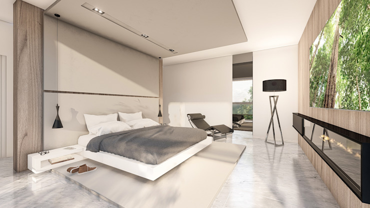 Chambre moderne par D'ODORICO ARQUITECTURA Moderne