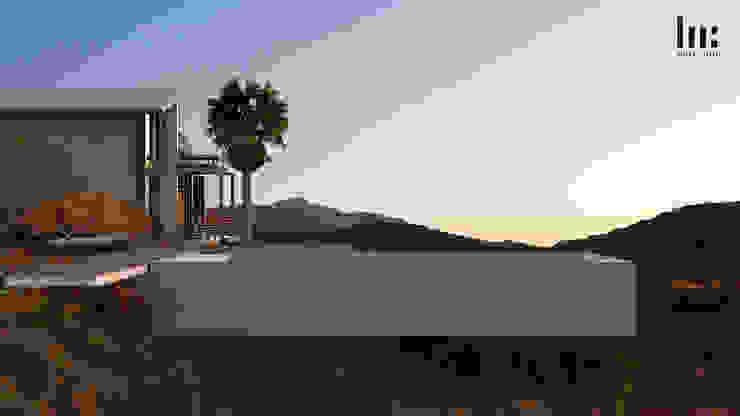 Alberca HC Arquitecto Hoteles de estilo minimalista Concreto Gris