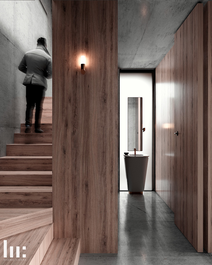 Loft - Interior HC Arquitecto Hoteles de estilo minimalista Madera Marrón