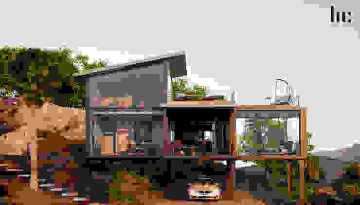Master Suite HC Arquitecto Hoteles de estilo minimalista Hierro/Acero Gris