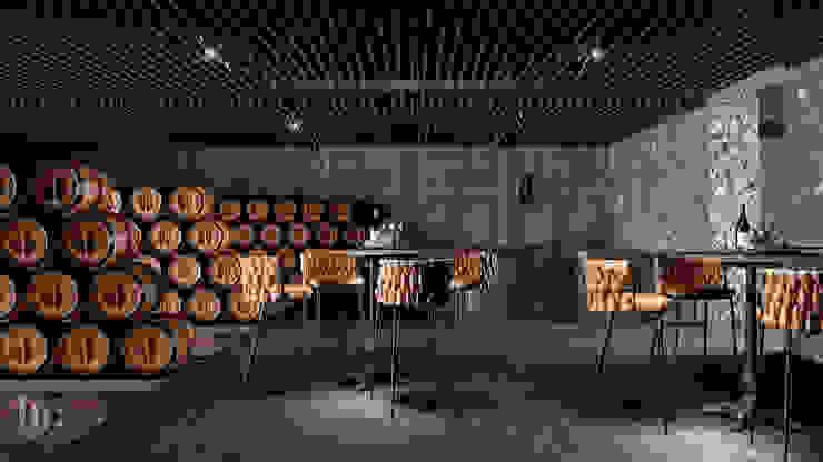 Cava - Interior HC Arquitecto Bares y clubs de estilo industrial Hierro/Acero Gris
