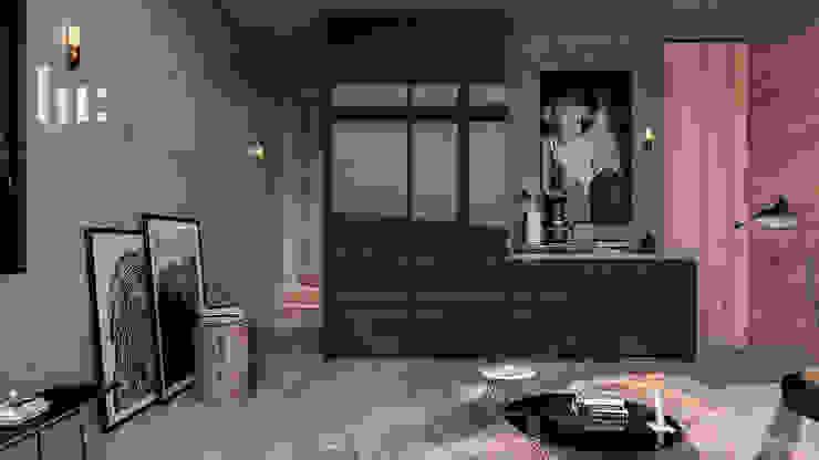 Loft - Interior HC Arquitecto Hoteles de estilo minimalista Madera Gris