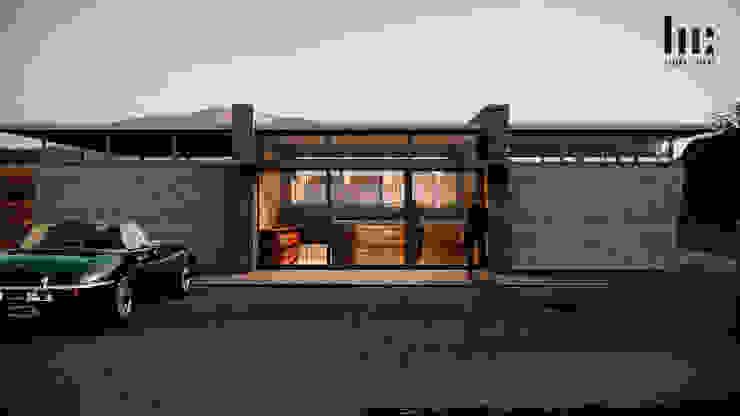 Recepción HC Arquitecto Hoteles de estilo minimalista Concreto Gris