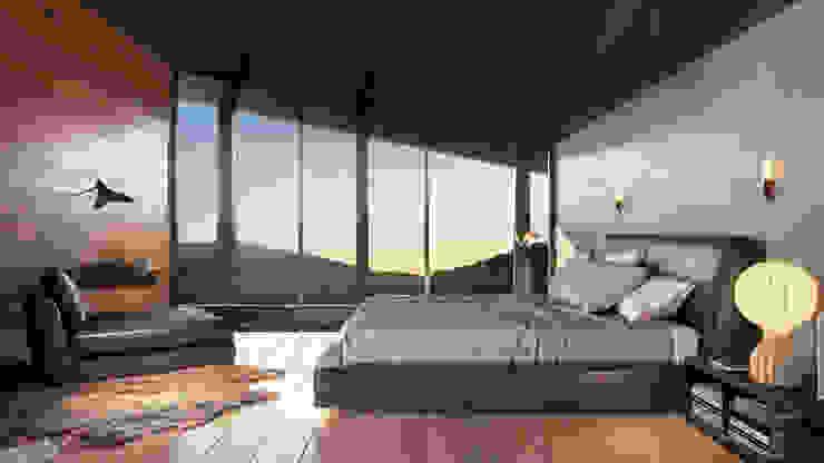 Loft - Interior HC Arquitecto Hoteles de estilo minimalista Concreto Gris
