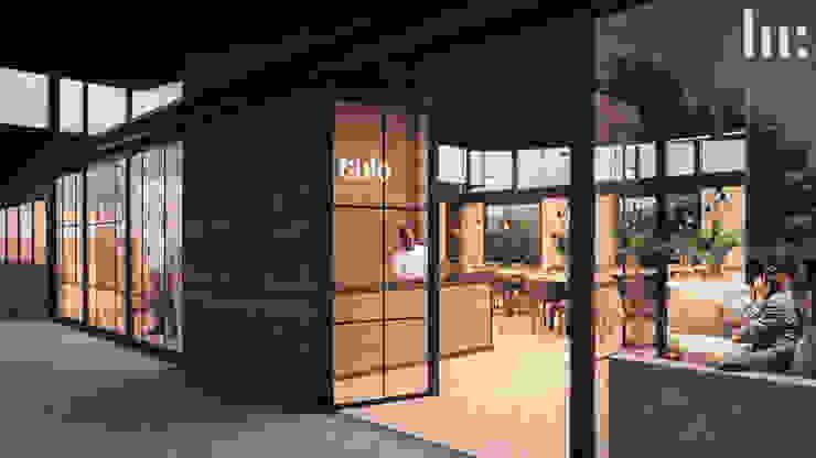 Restaurante - Interior HC Arquitecto Gastronomía de estilo minimalista Concreto Gris