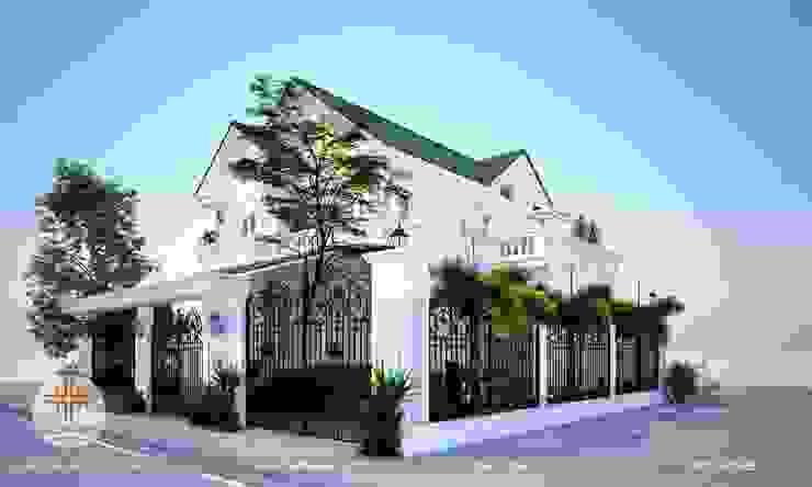 Biệt Thự Mái Thái 2 Tầng Đẹp bởi Thuần Việt CTy Thiết Kế Kiến Trúc-Xây Dựng Mẫu Nhà Đẹp Việt