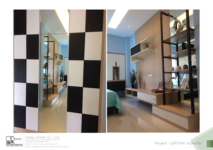 โครงการรับเหมาออกแบบตกแต่ง บ้านตัวอย่าง ภูเก็ตวิลล่า แอร์พอร์ต: ผสมผสาน  โดย ไทศิลป์ อินทีเรีย taisilp interior, ผสมผสาน