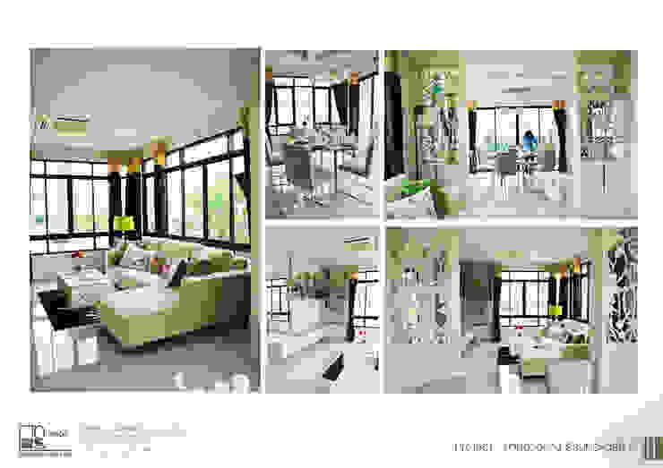 โครงการรับเหมาออกแบบตกแต่ง บ้านตัวอย่าง ธีรินทร์ พาร์ค 2: ผสมผสาน  โดย ไทศิลป์ อินทีเรีย taisilp interior, ผสมผสาน