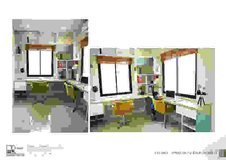 โครงการรับเหมาออกแบบตกแต่ง บ้านตัวอย่าง ธีรินทร์ พาร์ค 3: ผสมผสาน  โดย ไทศิลป์ อินทีเรีย taisilp interior, ผสมผสาน