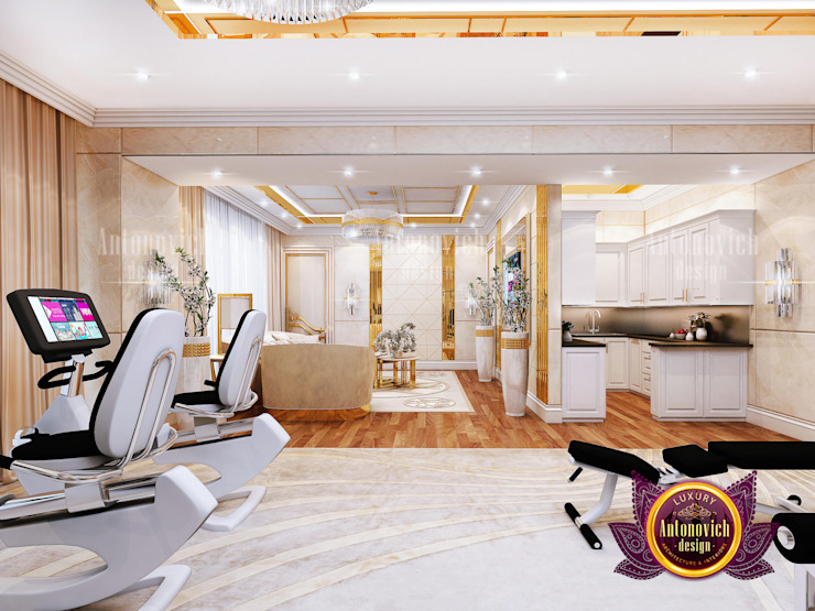Get Motivated by This Luxury Home Gym by Luxury Antonovich Design