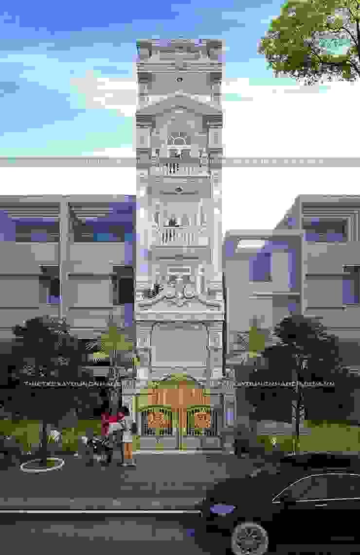 Thiết kế nhà phố đẹp hiện đại ở TpHCM bởi Công ty cổ phần tư vấn kiến trúc xây dựng Nam Long