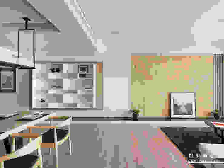 橙果創意國際設計 橙果創意國際設計 Living room Wood effect