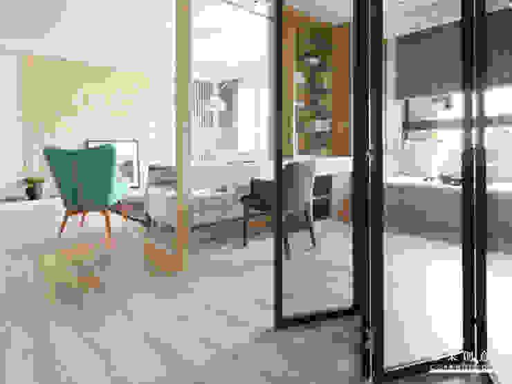 橙果創意國際設計 橙果創意國際設計 Scandinavian style study/office Glass