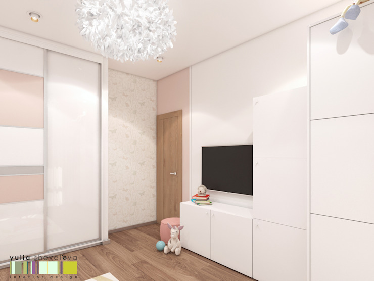 Eclectic style nursery/kids room by Мастерская интерьера Юлии Шевелевой Eclectic