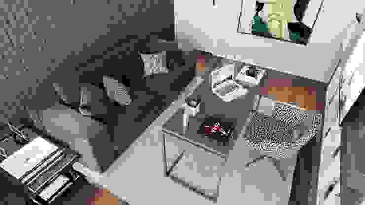 Escritório WoodSpace - Design de Interiores Escritórios modernos