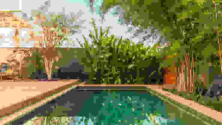Minimalistyczny basen od Frederico Trevisan Arquiteto Minimalistyczny
