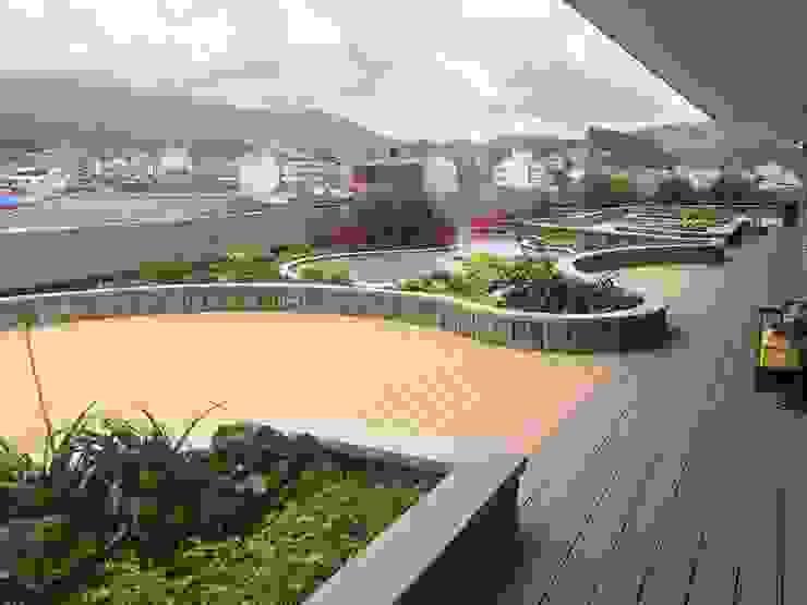 Cubierta Verde Explorer Jardines de estilo moderno de Folia - Arquitectura y Diseño del Paisaje Moderno
