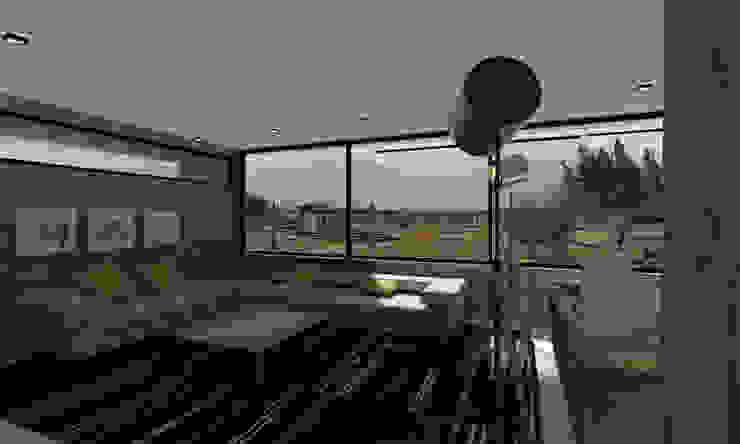 Living panoramico Livings de estilo moderno de Vetas Sur Moderno Concreto