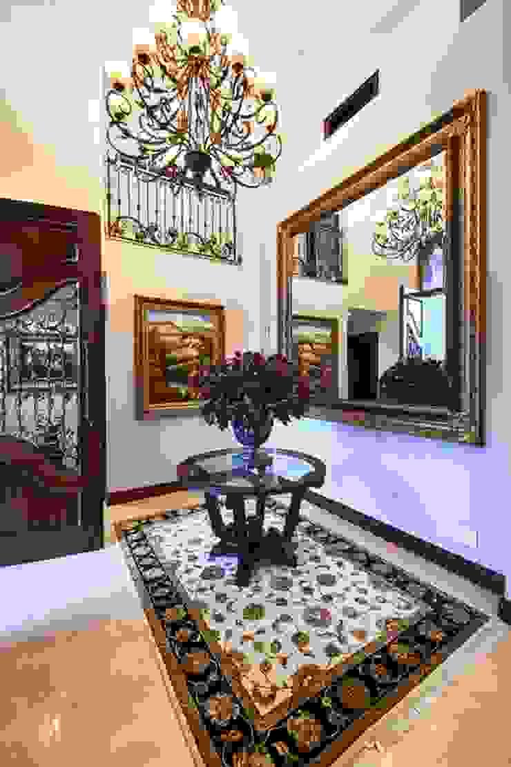 European Influence Villa Mediterranean corridor, hallway & stairs by Da Rocha Interiors Mediterranean