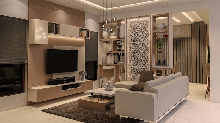 Living Room Modern living room by De Panache Modern