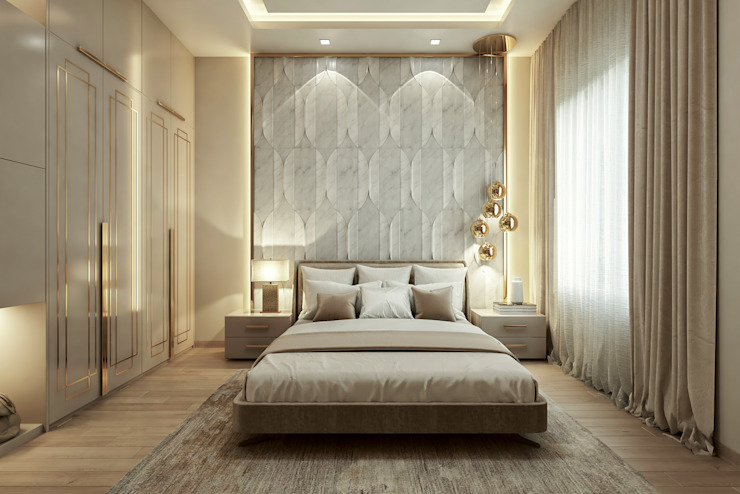 Bedroom Modern style bedroom by De Panache Modern