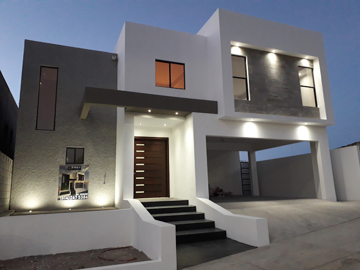 Fachada Casas modernas de Torres Construcción & Diseño Moderno Concreto