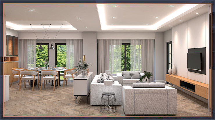 บ้านสร้างเอง ท่าข้าม พระราม 2: ทันสมัย  โดย BAANSOOK Design & Living Co., Ltd., โมเดิร์น แผ่น MDF