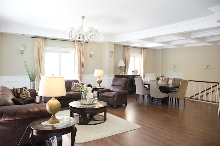 First settlement duplex apartment by SM Interiors Colonial Wood Wood effect