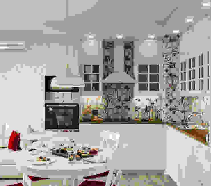 Дизайн - проект двухкомнатной квартиры 53,5 кв.м. в г. Москве от CUBE INTERIOR Кантри