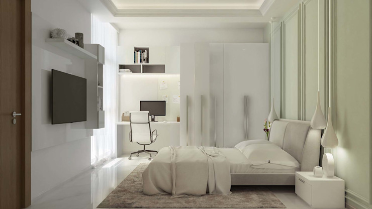 Guest Bedroom Modern style bedroom by De Panache Modern