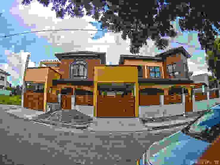 Two Storey Residences at Rosario Cavite ACTUAL PHOTO MG Architecture Design Studio Multi-Family house Concrete Brown