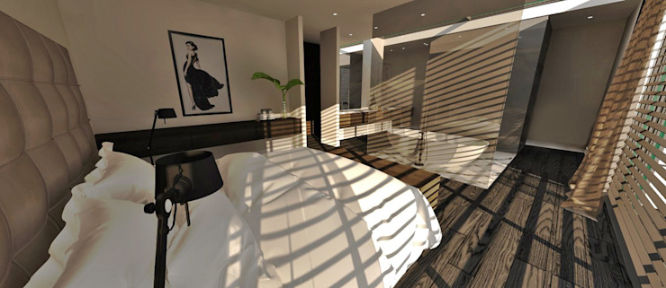 Interieurproject nieuwbouw villa te Venray Moderne slaapkamers van Thomassen Interieurs Modern