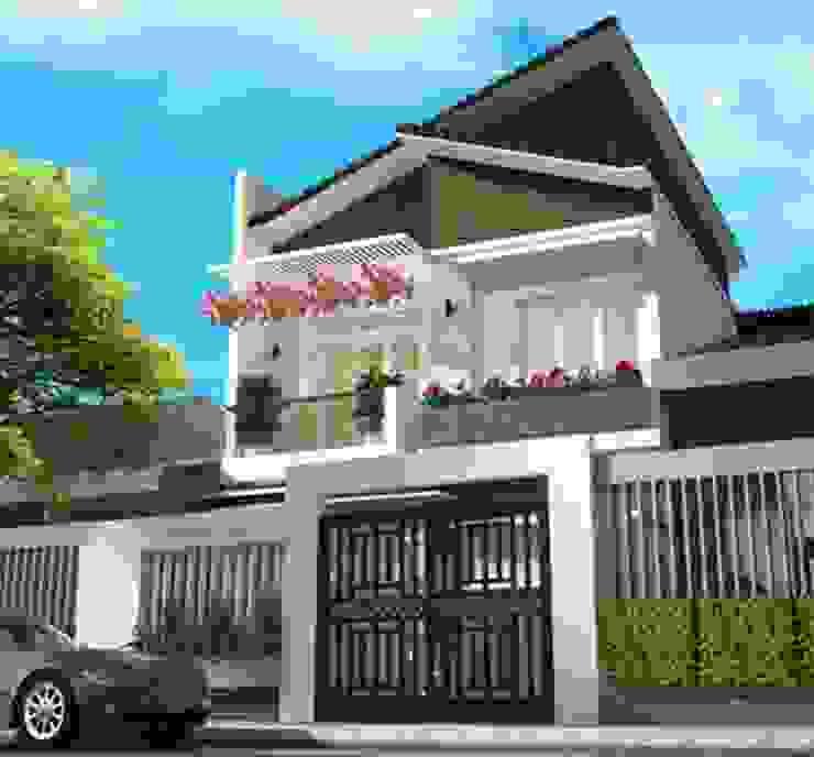 Mẫu nhà 2 tầng mái lệch hiện đại bởi Công ty xây dựng nhà đẹp mới