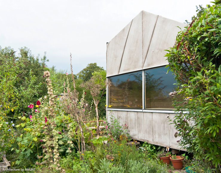 หลังคาในสวน โดย AMUNT Architekten in Stuttgart und Aachen, อินดัสเตรียล