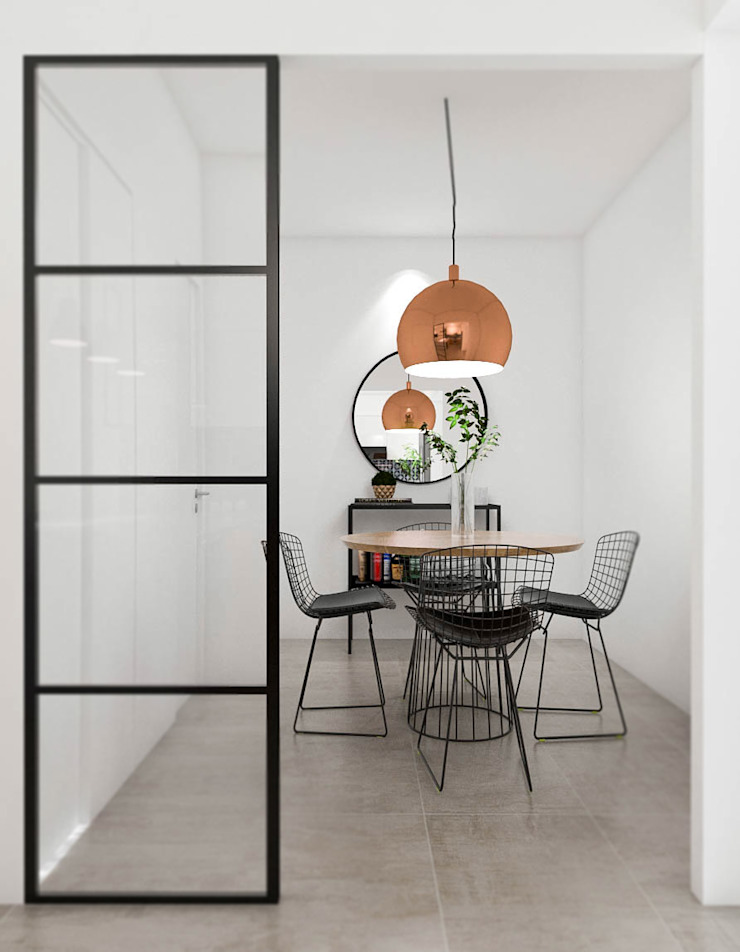 Industrial style dining room by Bhavana Industrial Iron/Steel